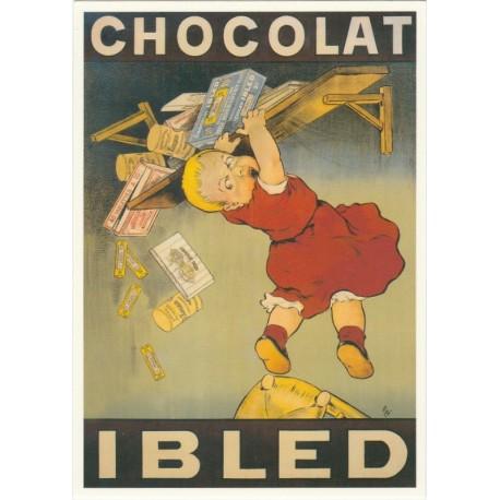 carte postale ancienne fran aise affiche publicitaire vintage chocolat ibled 1904 camille vintage. Black Bedroom Furniture Sets. Home Design Ideas