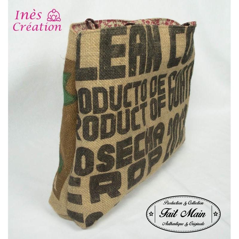 sac 224 en toile de jute de caf 233 recycl 233 du guatemala tissu r 233 tro vintage fabrication