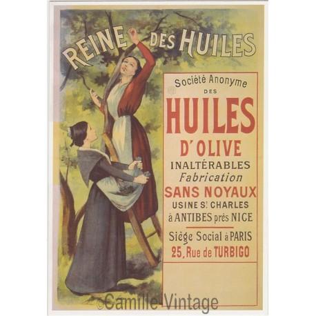 Carte Postale Huile d'Olive Reine des Huiles 1910