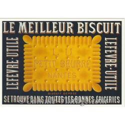 Carte Postale Biscuits LU Petit Beurre