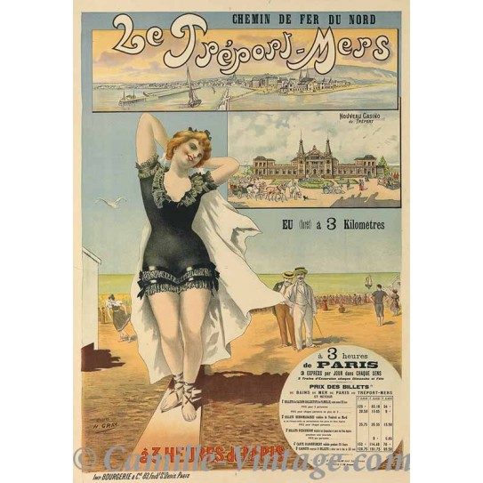 Poster Vintage Le Tréport-Mers Nouveau Casino