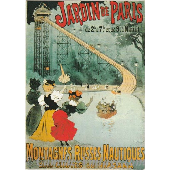 Postcard Jardin de Paris