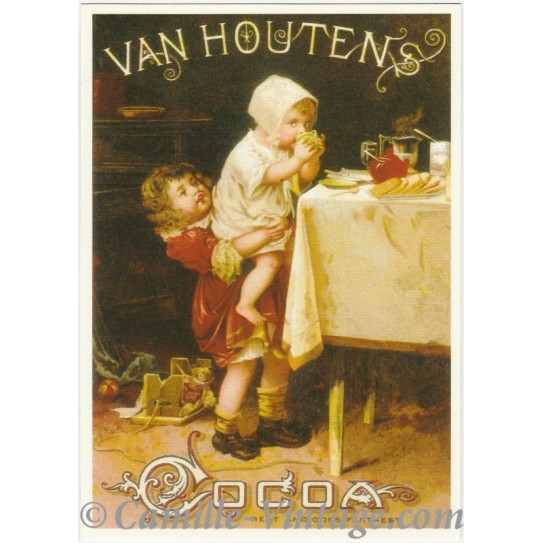 Carte Postale Cacao Van Houtens