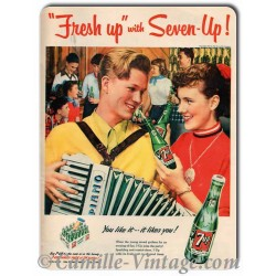 Plaque Aluminium Seven-Up
