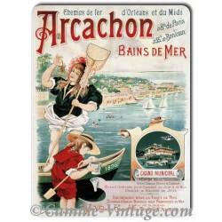 Plaque Aluminium Arcachon Bains de Mer