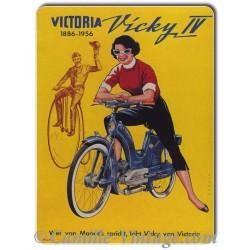Plaque Aluminium Mobylette Victoria