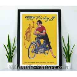 Poster Vintage Mobylette Victoria