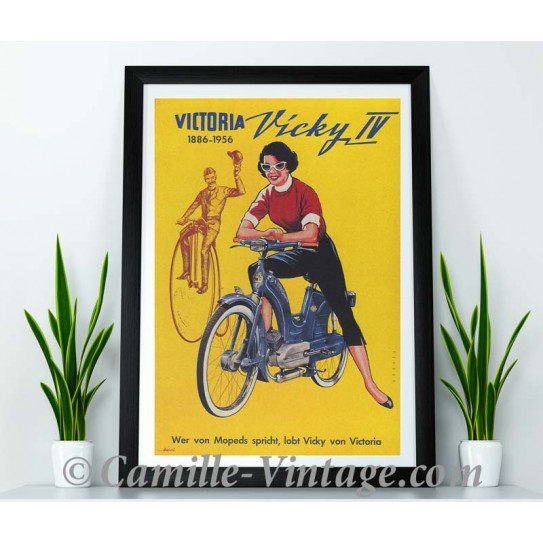 Affiche Vintage Mobylette Victoria