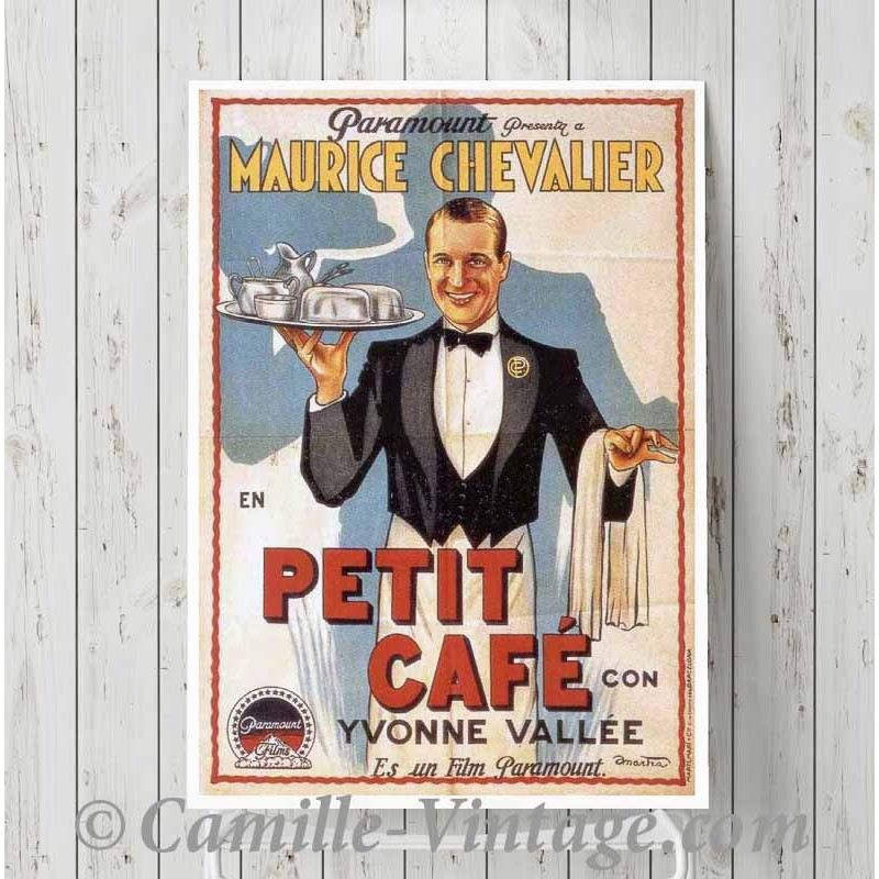 ancienne affiche poster film maurice chevalier impression nouvelle aquitaine. Black Bedroom Furniture Sets. Home Design Ideas