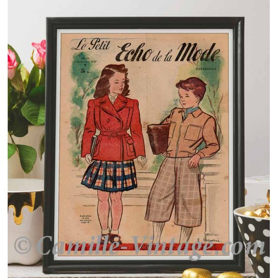 Affiche Le Petit Echo de La Mode 7 Septembre 1947