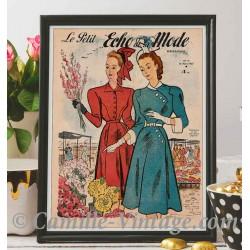 Poster Vintage Le Petit Echo de La Mode 16 mars 1947