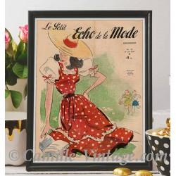 Affiche Le Petit Echo de La Mode 1er Juin 1947