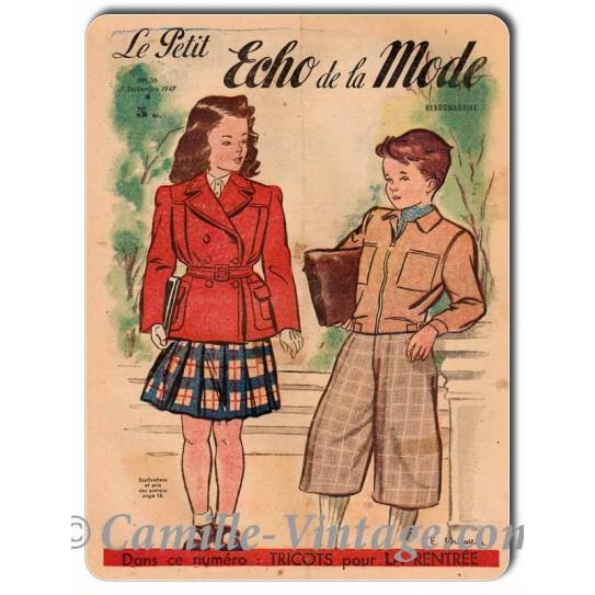 Plaque Aluminium Le Petit Echo de La Mode 7 Septembre 1947