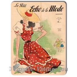 Plaque Aluminium Le Petit Echo de La Mode 1er Juin 1947