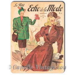 Plaque Aluminium Le Petit Echo de La Mode 2 février 1947
