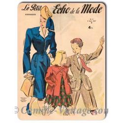 Plaque Aluminium Le Petit Echo de La Mode 2 mars 1947