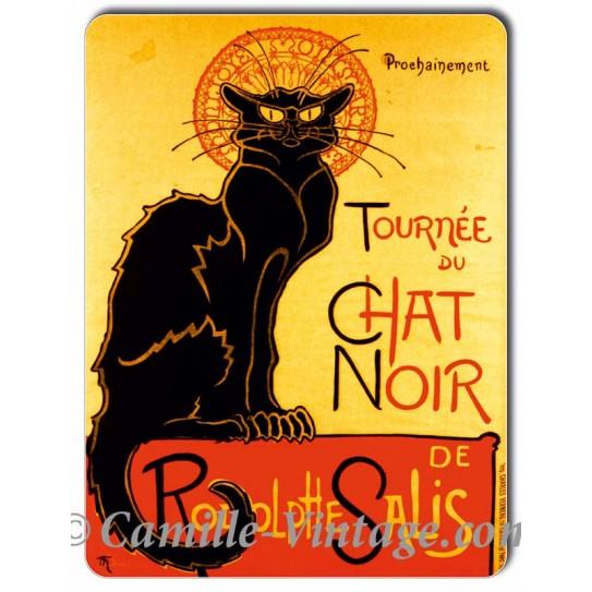 Plaque métal Tournée du Chat Noir