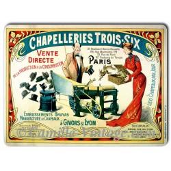 Plaque aluminium Chapelleries Trois-Six