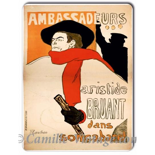 Plaque aluminium Aristide Bruant