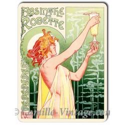 Plaque aluminium Absinthe Robette