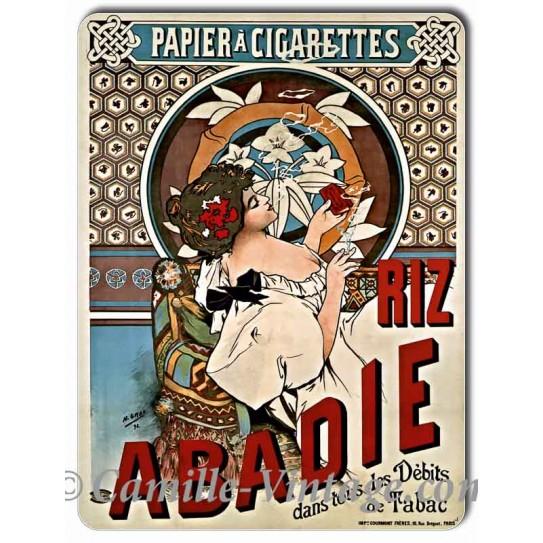 Plaque aluminium Papier à cigarettes Riz Abadie