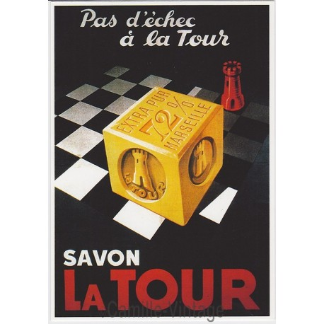 Carte Postale Savon La Tour de Marseille