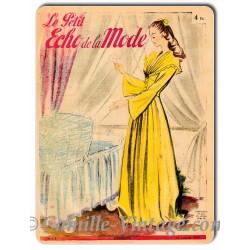 Plaque Aluminium Le Petit Echo de La Mode 12 janvier 1947