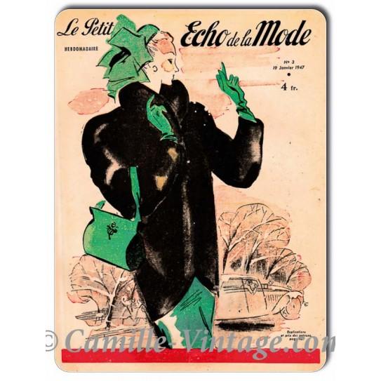 Plaque Aluminium Le Petit Echo de La Mode 19 janvier 1947