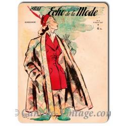 Plaque Aluminium Le Petit Echo de La Mode 9 février 1947