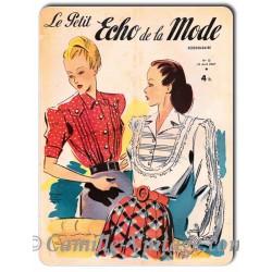 Aluminium plate Le Petit Echo de La Mode 13 April 1947