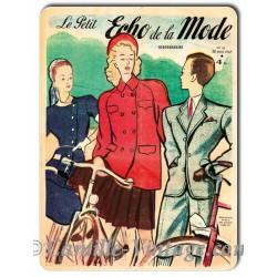 Aluminium plate Le Petit Echo de La Mode 20 April 1947
