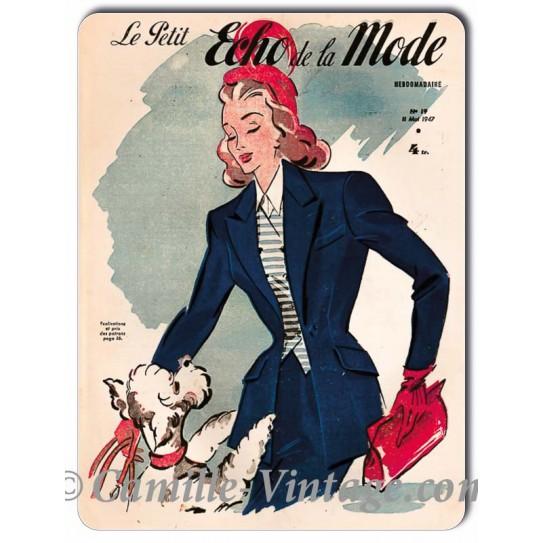 Plaque Aluminium Le Petit Echo de La Mode 11 mai 1947