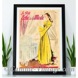 Poster Vintage Le Petit Echo de La Mode 12 Janvier 1947