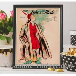 Affiche Le Petit Echo de La Mode 9 février 1947