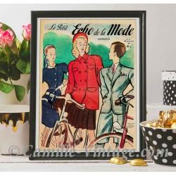 Poster Vintage Le Petit Echo de La Mode 20 avril 1947
