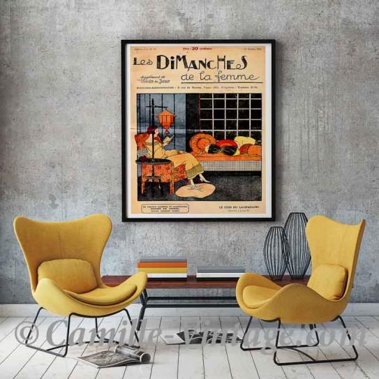Poster Vintage Les Dimanches de la Femme 1922