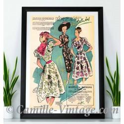 Affiche de Mode des Premières Robes Imprimées