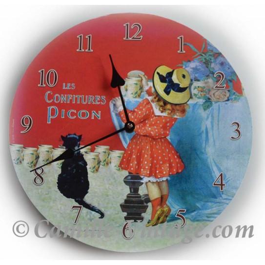 Horloge Murale Confiture Picon