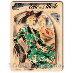 Aluminium plate Le Petit Echo de La Mode 18 May 1947
