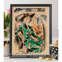 Affiche Le Petit Echo de La Mode 18 mai 1947