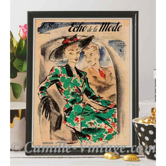 Poster Vintage Le Petit Echo de La Mode 18 mai 1947