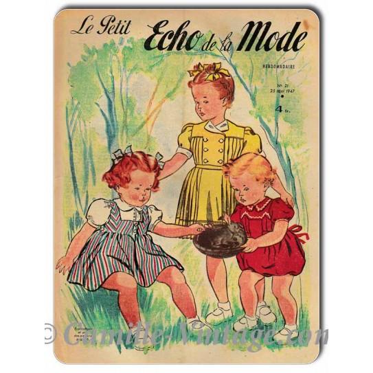 Aluminium plate Le Petit Echo de La Mode 25 May 1947