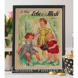 Affiche Le Petit Echo de La Mode 25 mai 1947