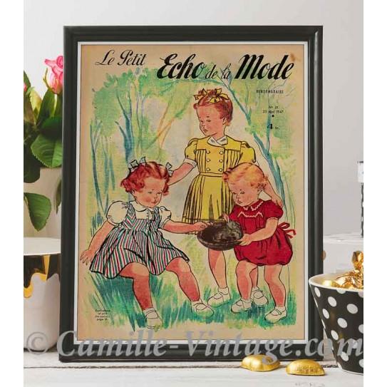 Poster Vintage Le Petit Echo de La Mode 25 mai 1947
