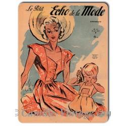 Aluminium plate Le Petit Echo de La Mode 8 June 1947