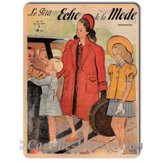 Aluminium plate Le Petit Echo de La Mode 15 June 1947