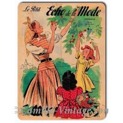 Plaque Aluminium Le Petit Echo de La Mode 22 juin 1947
