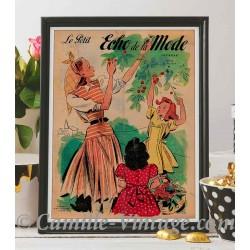 Poster Vintage Le Petit Echo de La Mode 22 June 1947