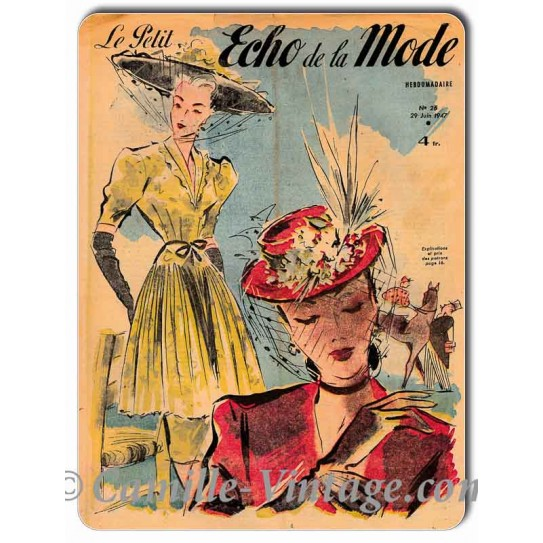 Aluminium plate Le Petit Echo de La Mode 29 June 1947