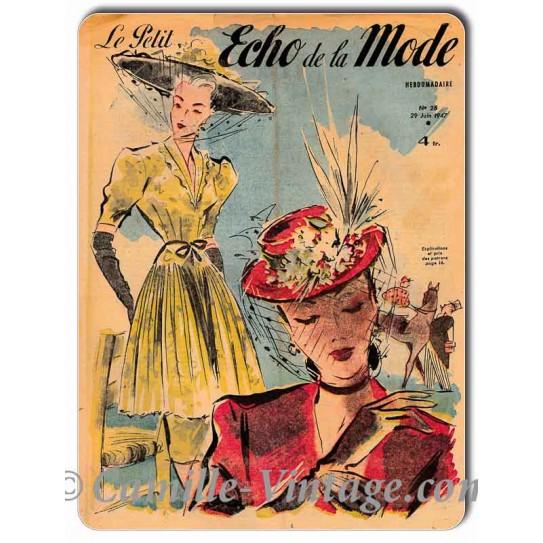 Plaque Aluminium Le Petit Echo de La Mode 29 juin 1947